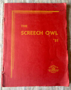 "1951 Bowmanville Ontario High School Yearbook ""The Screech Owl"""