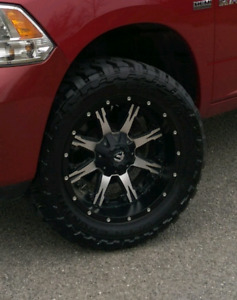 Dodge Ram 33x12.5R20 Toyo open country on Fuel Nutz Rims