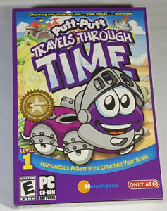 PUTT-PUTT TRAVELS THROUGH TIME LEVEL 1 PC SOFTWARE NEW