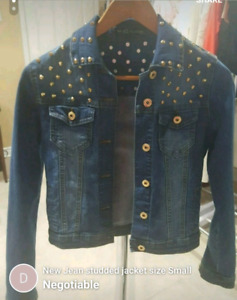 Jean gold studded jacket Small new
