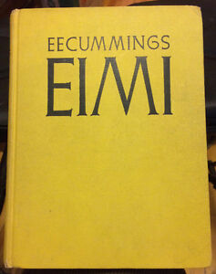 Eimi by e e cummings, numbered and signed first edition