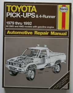 TOYOTA PICK-UPS 4-RUNNER 1979-1992 Repair Manual Haynes