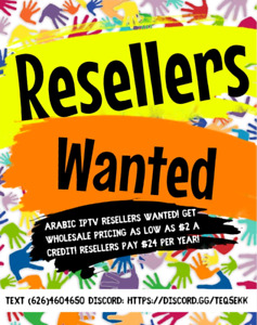 Arabic Tv Resellers Wanted - Panel Provided