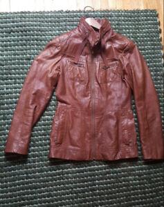 lightly worn Danier genuine leather jacket, size xs