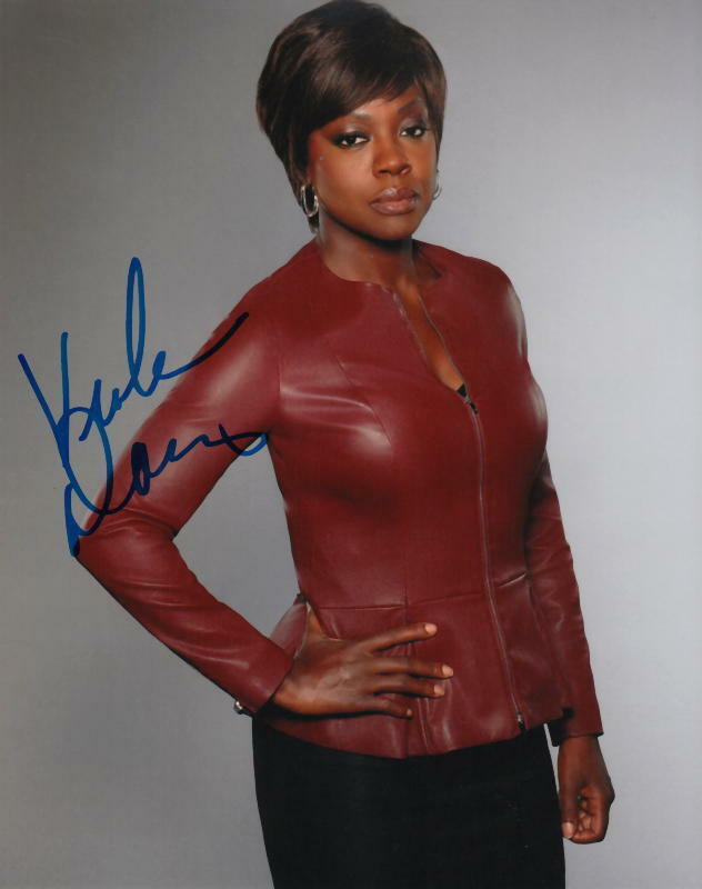 VIOLA DAVIS.. Alluring Actress (How To Get Away With Murder) SIGNED