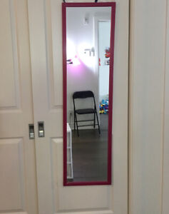 Foldable Table.  foldable chair.  plastic drawer.Mirror. Curtain