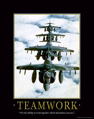 Military Motivational Poster Art Print Air Force Pilot Jets Wall Decor -
