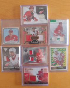 Detroit Red Wings Hockey Cards -Autos, Relics, Patches, Rookies
