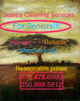 Susie's Cleaning Services For Seniors  778.478.6990