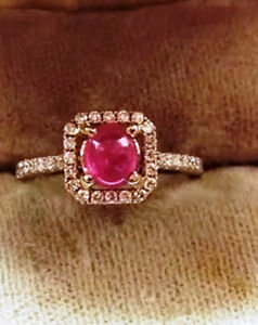 RING GOLD AND PINK SAPPHIRE