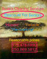 Susie's Cleaning Services Descount For Seniors  778.478.6990