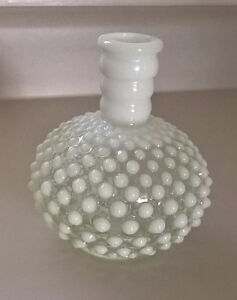 Vintage Fenton Hobnail Bottle Glass Decanter