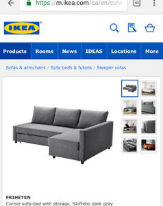 LOOKING for Ikea Sectional w/ pull-out-bed (condo-sized)