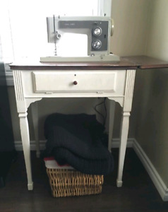 Old Sewing table and machine