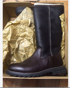 UGG Australia Women's Brooks Tall Brown Leather Boot 7 M US