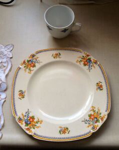 plate, coffee cup and saucer