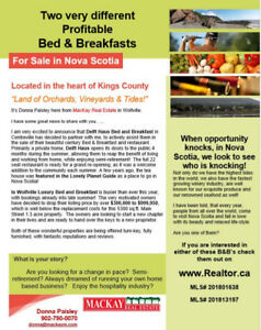 Two Bed & Breakfasts for sale in Nova Scotia