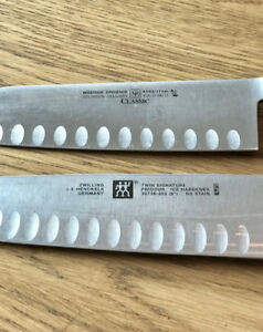Set of 2 Zwilling & Wusthof  knives, in great condition...