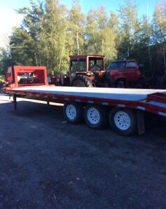 For sale Flat bed tri axle trailer