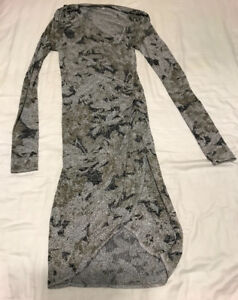 Long Sleeve Patterned Bodycon Dress from Aritzia