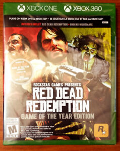 Red Dead Redemption Game of the Year (XBOX ONE/360) NEW & Sealed