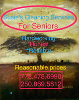 Susie's Cleaning Services 778.478.6990 FREE ESTIMATES