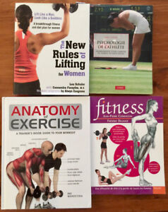 4 Livres : Anatomy of Exercise, Fitness, New rules of Lifting...