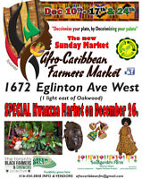 Vendors Wanted - AFRO-CARIBBEAN FARMERS'/HOLIDAY CULTURAL MARKET