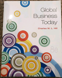 global business today 8th ed charles w l hill textbook textbooks