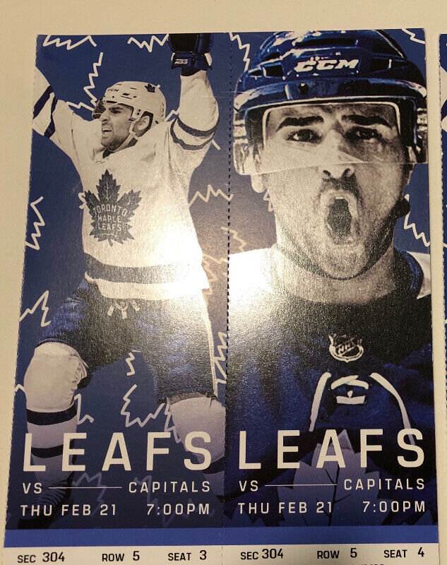 175.00 Maple Leafs vs Capitals Tickets - Feb. 21st eddef1f834c