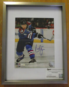 Signed Photo Erik Johnson 8x10 w/11x14 frame w/coa