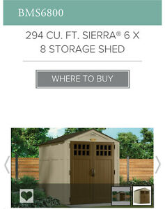8x6 Resin Storage Shed