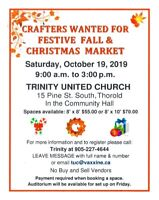 Crafters Wanted for Festive Fall & Christmas Market