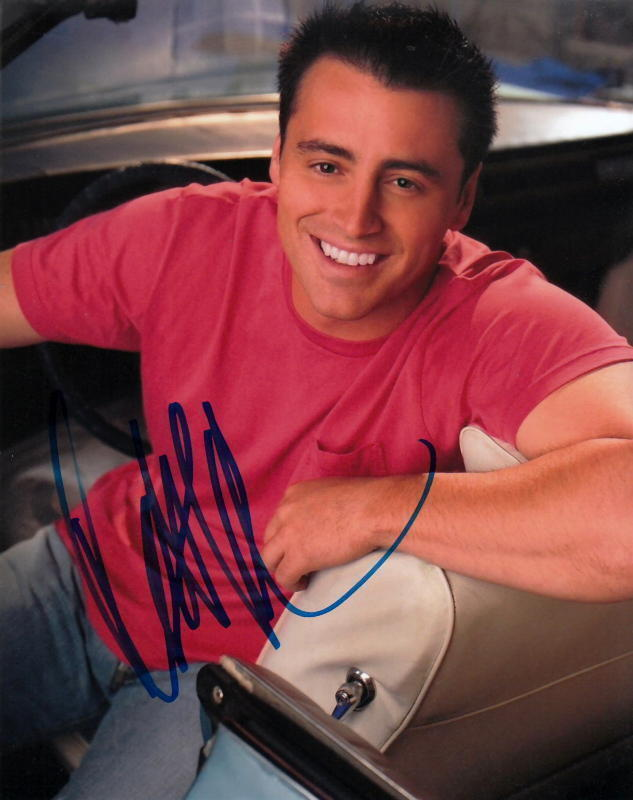 MATT LeBLANC.. Friends' Joey Tribbiani - SIGNED