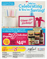 SUNSET GOURMET's 13th Birthday month  Specials!!!