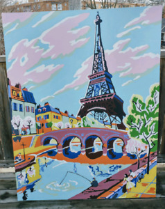 Gigantic Paint by numbers Eiffel tower paris  kitsch