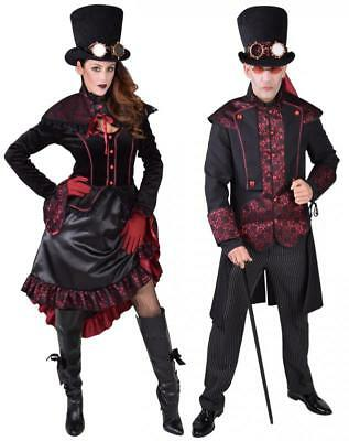 Barock Rokoko Kleid Kostüm Steampunk Herren Damen Gothic Halloween Hut schwarz (Halloween Hut)