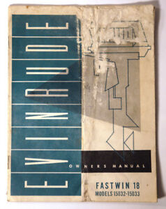 1960 EVINRUDE FASTWIN 18 HP OUTBOARD MOTOR MANUAL 15032 15033