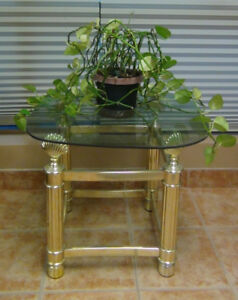 Glass top table with FREE extra glass top– NEW REDUCED PRICE!!!!