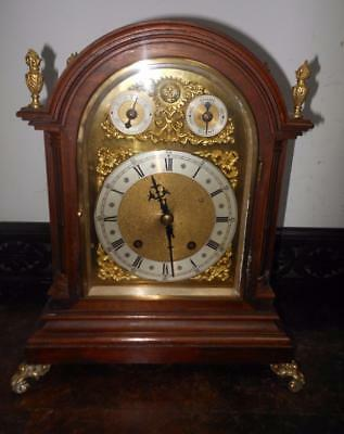 a mahogany   winterhalder & hoffmeir ting tang  bracket clock  c1900s