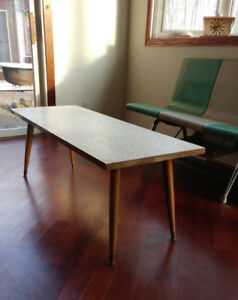 MID CENTURY MODERN RETRO 50s MCM TILE AND WOOD COFFEE TABLE