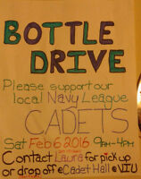 BOTTLE DRIVE for our CADETS