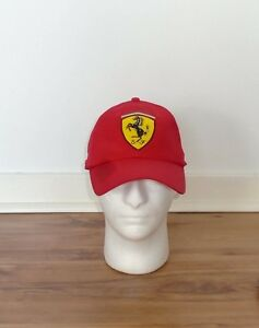 OFFICIAL FERRARI BASEBALL CAP RED CRESTED ONE SIZE