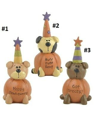 Blossom Bucket...Halloween Dogs in Pumpkins...priced each-*So Cute*