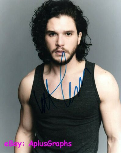KIT HARINGTON.. Handsome Charmer (Game of Thrones) SIGNED