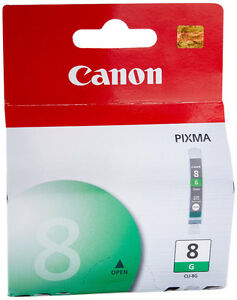 Canon CLI-8G-Green Ink Tank-Brand New + bonus cartridge-Lot $5