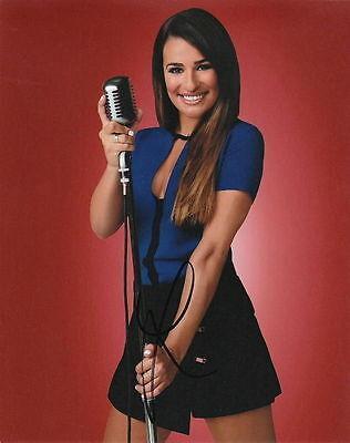 Lea Michele   Glees Singing Sensation  Rachel Berry   Signed