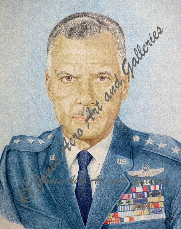 Tuskegee Airmen, Lt General Benjamin O Davis Jr Giclee Prints by Willie Jones Jr