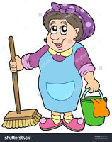 Cleaning lady looking to clean your house