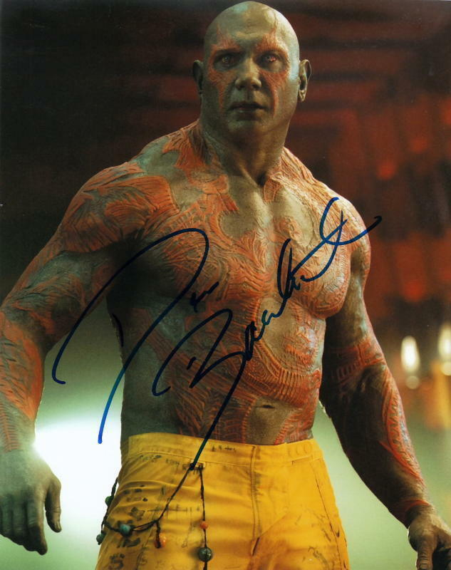DAVE BAUTISTA.. Guardians Of The Galaxy - SIGNED